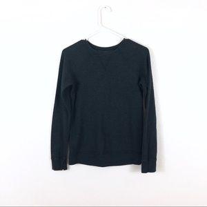 Lululemon Gray Striped Reversible Sweatshirt Crew